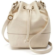 SONOMA Goods for Life™ Bucket Crossbody Bag (3.965 RUB) ❤ liked on Polyvore featuring bags, handbags, shoulder bags, white oth, drawstring bucket bag, purse shoulder bag, purse crossbody, bucket bag purse and bucket bag