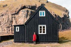 Black house red girl