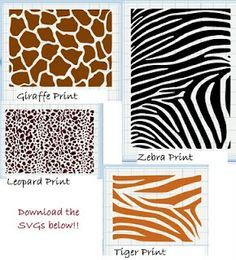 free download to make your own animal print vinyl in your own color choices - Animal Pictures To Print Free