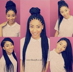 Different ways to style box braids - Looking for Hair Extensions to refresh your hair look instantly? @KingHair focus on offering premium quality remy clip in hair.