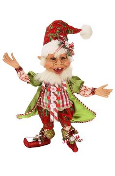 Mark Roberts 'Candy Cane' Medium Elf available at #Nordstrom