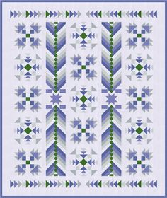 La Lavande - a quilt design to inspire dreams of the lavender fields of Provence!