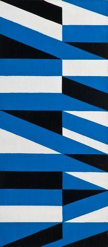 Lars Gunnar Nordström Born 1924 COMPOSITION. (d) A tergo sign. 1980. Oil on board 39,5x18 cm.