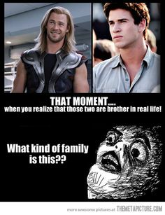 hahah yep! the Hemsworth Brothers. I realized that they were brothers like... 3 years ago??