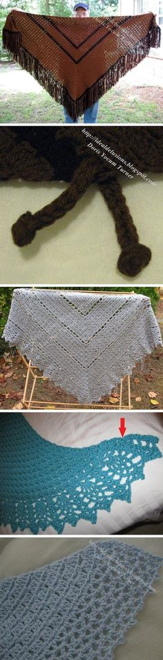 So Simple Block Stitch Shawl, free pattern by Ideal Delusions, with several variations also given. Basic pattern is super-easy, can make any size with any weight yarn. Definitely on my project list! #crochet