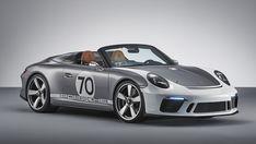 Porsche celebrates its anniversary with 911 Speedster concept. The anniversary model forges a link between the very first Porsche 356 'No. Porsche 911 Cabriolet, Porsche 911 Targa, Porsche Carrera, Porsche Logo, Porsche Girl, Porsche Sports Car, New Porsche, Cayman Porsche, Car Wallpapers
