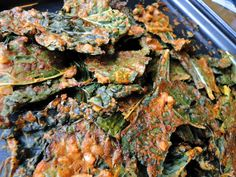Spicy Peanut Kale Chips