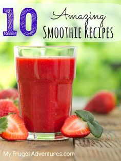 10 Amazing Smoothie Recipes- perfect to freeze for quick on the go snacks! by ZaraFee Best Smoothie Recipes, Nutribullet Recipes, Yummy Smoothies, Smoothie Fruit, Smoothie Drinks, Vanilla Smoothie, Healthy Drinks, Healthy Snacks, Healthy Recipes