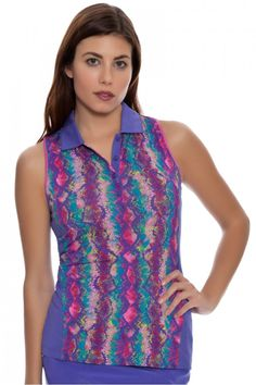 Golf Fashion | EP Sport Kasbah Golf Sleeveless Shirt : 2415SFB