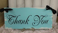 THANK YOU Sign/Wedding Sign/Photo Prop/U by gingerbreadromantic, $29.95