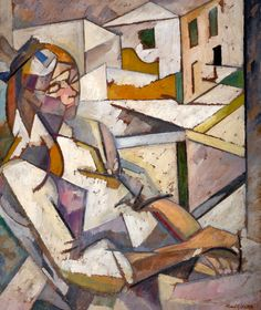 Portrait of Juliette Roche (1917), Albert Gleizes, French (1881-1953), Oil on Board