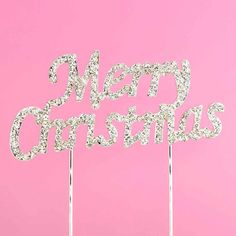 This sparkly rhinestone Merry Christmas cake topper will make your Christmas cake sparkle. Wedding Cake Toppers, Wedding Cakes, Christmas Cake Topper, Merry Christmas, Xmas, Neon Signs, Make It Yourself, How To Make, Wedding Gown Cakes
