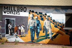 A mural at Juan Chacon Union Hall on Hwy 180 in Bayard, New Mexico