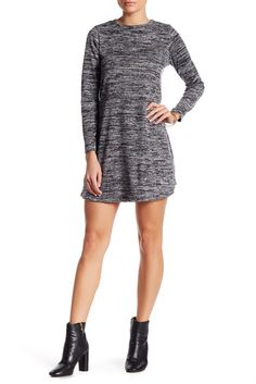 Image of Bobeau Long Sleeve Swing Dress (Petite)