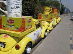 Lipton Volks Wergen trucks advertising