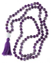 Cleansing Amethyst Mala Bead Necklace