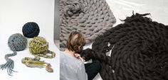 I want one of these rugs....it looks like a lot of work...but I bet if we team up we can get it done!!