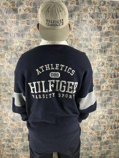 73a7aeb0 Vintage TOMMY Hilfiger Polo Rugby Shirts Large Athletics Varsity Sports  Tommy Polo Shirt Hip Hop Rap Sportswear Tommy Jeans Shirt Size L