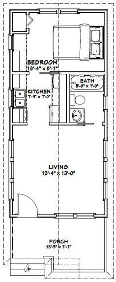 14x30 Tiny House -- #14X30H1B -- 419 sq ft - Excellent Floor Plans