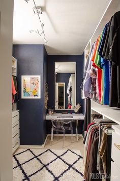 This Navy Closet Makeover Will Make You Rethink Everything  - HouseBeautiful.com