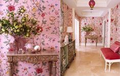 Style Profile: Michael Whaley - The Glam Pad Entry Stairs, Entry Hallway, Classic Interior, Grand Entrance, Love Wallpaper, Chinoiserie, Design Projects, Interior Design, Outdoor Decor