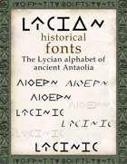 Lycian historical fonts