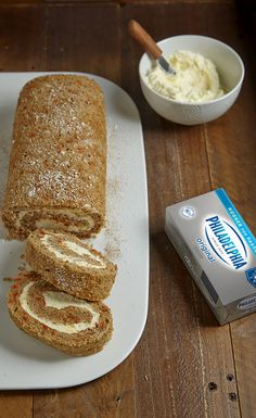 This cake is so delicious, you may just want to eat THIS every day of Passover! Our Carrot Cake Roll with Lemon-Cream Cheese Filling is made with lemon-infused Kosher for Passover PHILADELPHIA Cream Cheese, matzo cake meal, fresh carrots and sweet, earthy cinnamon. Enjoy PHILLY for Passover.