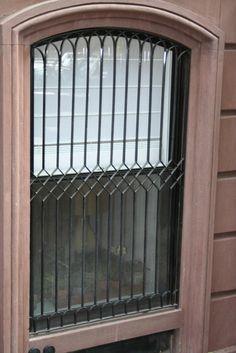 Landmark-Style | Window Bars | Custom Iron Works | Product Gallery | Kaufman Ironworks Painted Screen Doors, Old Screen Doors, Screened In Porch Furniture, Screened In Deck, Screen Design, Wall Design, Funny Screen Savers, Window Security Bars, Burglar Bars