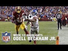Odell Beckham Jr. Highlights (Week 12) | Giants vs. Redskins | NFL - YouTube
