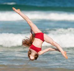 Ashi Ross doing a ariel cartwheel
