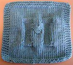 M Dishcloth: #knit #knitting #free #pattern #freepattern #freeknittingpattern #knittingpattern