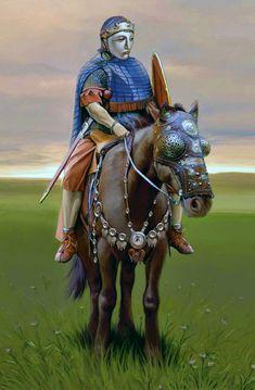 Batavian auxiliary cavalry from Noviomagus the second half of the Century CE by Andrey Evgenevich Negin Ancient Rome, Ancient History, Roman Armor, Roman Legion, 1st Century, Roman Empire, Enemies, Helmets, Medieval