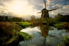 Windmill Riekermolen | Dutch Image #holland #windmill #travel