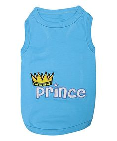 Loving this Blue 'Prince' Dog Tee on #zulily! #zulilyfinds