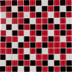 Shop Elida Ceramica Beep Bop Love Glass Mosaic Square Indoor/Outdoor Wall Tile (Common: 12-in x 12-in; Actual: 11.75-in x 11.75-in) at Lowes.com