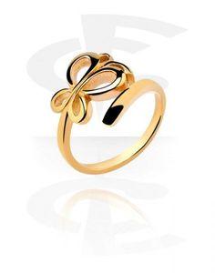 Ring Fingerring Midring vergoldet Schmetterling - Durchmesser 15mm