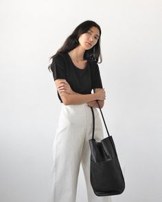 "385 Likes, 2 Comments - Either And (@__eitherand) on Instagram: ""Our new favorite bag for fall, the Buoy Bag from @are_studio in onyx Super soft leather and…"""