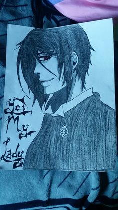 """I am one Hell of a Butler..."" ~Sebastian Michealis   I just drew this today for my little sister. She loves black butler especially Sebastian. Or what we sometimes call him ""Sebby-Chan."" XD  I had fun drawing this."