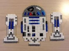 R2D2 - Star Wars original perler design