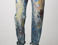 Denim & Supply Raph Lauren Paint Splatter Boyfriend Jeans - Street Fashion, Casual Style, Latest Fashion Trends - Street Style and Casual Fashion Trends Painted Jeans, Painted Clothes, Denim Paint, Painting On Denim, Paint Splatter Jeans, Looks Style, Style Me, Raph Lauren, Looks Jeans