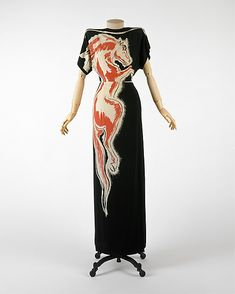 """Roan Stallion"" silk gown by Gilbert Adrian, 1945."