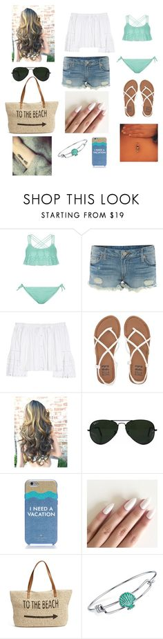 """""""Summer Time ❤❤❤"""" by madison1587 ❤ liked on Polyvore featuring New Look, True Religion, Carolina Herrera, Billabong, Ray-Ban, Kate Spade, Straw Studios and Disney"""