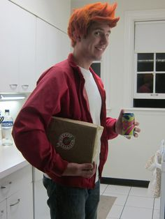 Philip J. Fry costume #Futurama OMG I think my husband would be all over this…