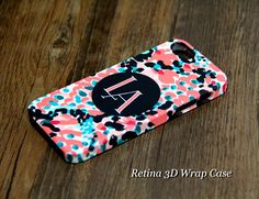 Abstract Printing Monogram iPhone 5S/5C/5/4S/4 3D Wrap Case