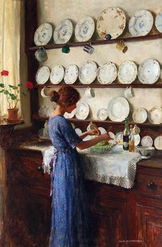 fleurdulys:  Lady of the House - William Henry Margetson