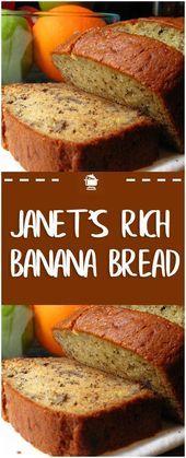 Janet's Rich Banana Bread Paula Deen Banana Bread, Buttermilk Banana Bread, Super Moist Banana Bread, Sour Cream Banana Bread, Cinnamon Banana Bread, Peanut Butter Banana Bread, Flours Banana Bread, Homemade Banana Bread, Make Banana Bread