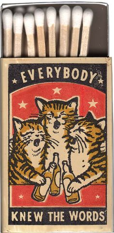 Rhade-Zapan — Beautiful art by Arna Miller + Ravi Zupa Shop ~ . Art And Illustration, Vintage Illustrations, Drunk Cat, Matchbox Art, Photo Chat, Arte Pop, Art Graphique, Funny Art, Fun Funny
