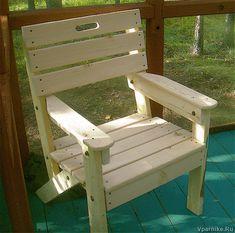 Как самому сделать садовое деревянное кресло. Чертежи