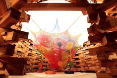 Espacio para juegos tejidos a mano / Toshiko Horiuchi