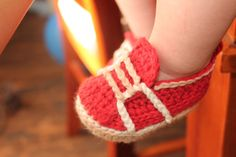 Baby Boy Crochet Pattern sneakers Baby Crochet por Inventorium